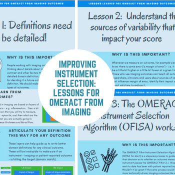 Improving instrument selection: Lessons for OMERACT from imaging